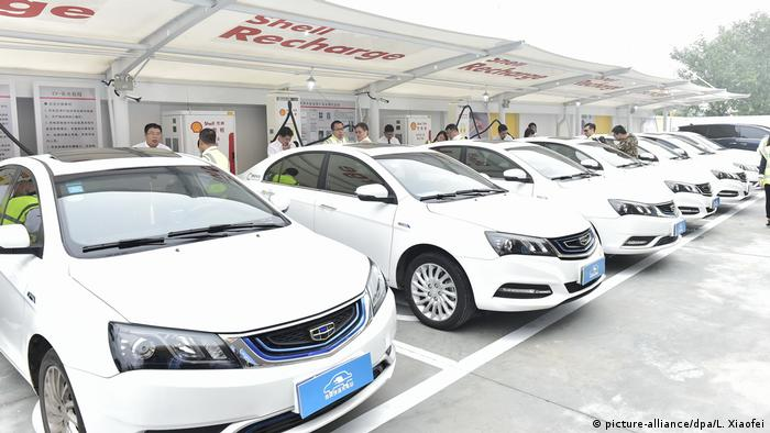 China, Tianjin: Elektrofahrzeuge von CaoCao Car, eine Unit von Geely Autos
