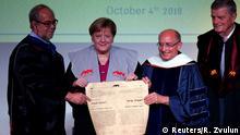 Israel Merkel erhält die Ehrendoktorwürde der Universität Haifa