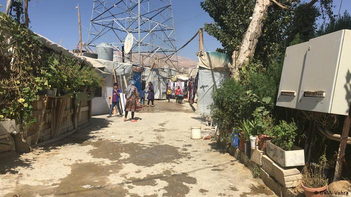 A refugee camp in Lebanon