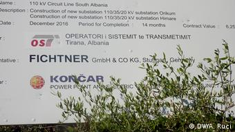 Albanien Energieversorgung Südalbanien (DW/A. Ruci)