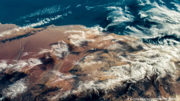 Снимок из космоса, сделанный Александером Герстом