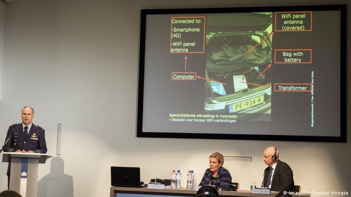 МО Нидерландов представляет данные о группе российских шпионов, пытавшихся взломать ОЗХО, октябрь 2018