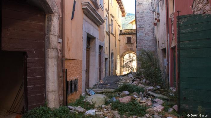 Rubble in Cisso's old town