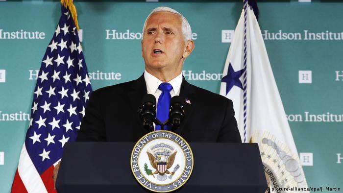 USA Washington - Mike Pence spricht am Hudson Institut