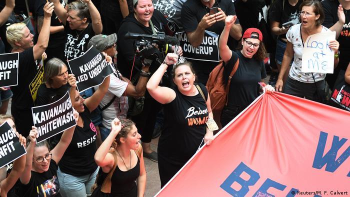 USA Proteste gegen Brett Kavanaugh in Washington (Reuters/M. F. Calvert)