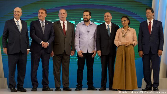 Candidatos à Presidência em debate promovido pela TV Globo