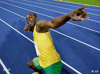 Bolt in Jubelpose (Foto: AP)