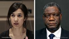 Bildkombo, Bildcombo Dominique Gutekunst Denis Mukwege und Nadia Murad, Friedens-Nobelpreis 2018