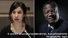 Bildkombo Denis Mukwege und Nadia Murad