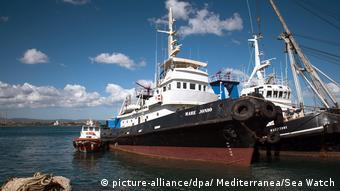 Flüchtlingsrettungsschiff auf dem Mittelmeer «Mare Jonio»