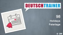 DEUTSCHKURSE | Deutschtrainer | Folge 98 | 098_000a_Titelfolie_Englisch
