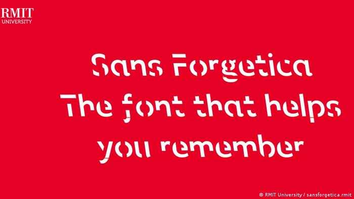 Sans Forgetica, the new font that helps your memory