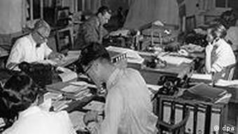 Dpa's Hamburg headquarters in the 1950s