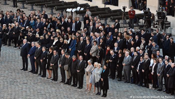 Participaram das homenagesn o presidente armênio, Armen Sarkissian, e os ex-presidentes franceses Hollande e Sarkozy