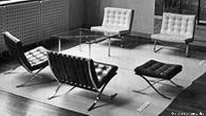 BdT Ludwig Mies van der Rohe Möbel Barcelona (picture-alliance/ dpa)