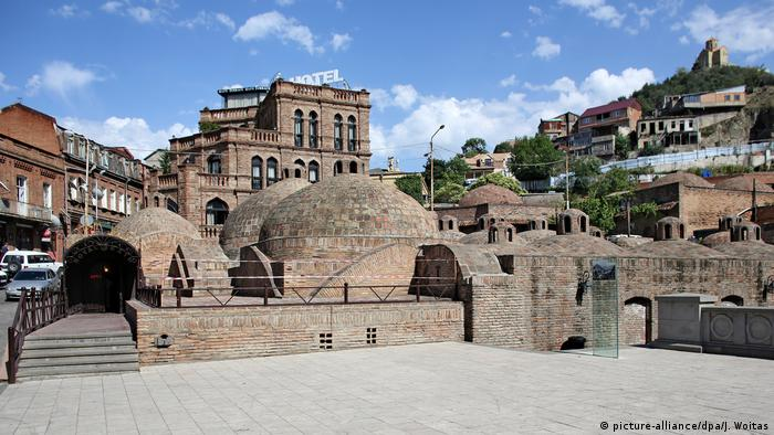 The spa district of Abanotubani in Tbilisi