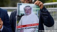Türkei Botschaft von Saudi-Arabien in Istanbul | Protest für Freilassung von Jamal Khashoggi