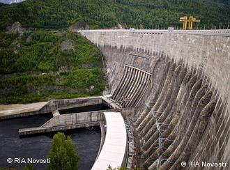Aerial view of the Sayano-Shushanskaya dam