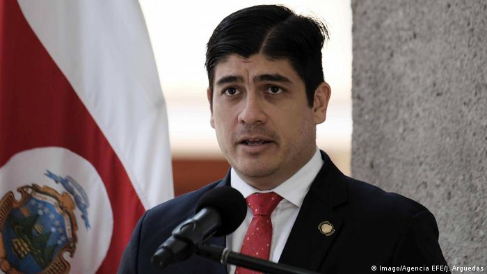 Presidente costarricense, Carlos Alvarado (archivo)