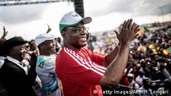 MRC leader Maurice Kamto at a campaign rally in Yaounde, Cameroon (Getty Images/AFP/M. Longari)