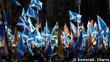 'All Under One Banner' pro-independence protesters take part in a march and rally in Edinburgh, Scotland October 6, 2018. REUTERS/Russell Cheyne