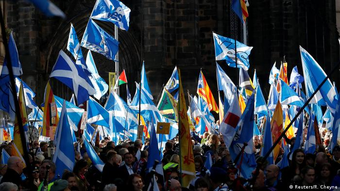 The rally in Edinburgh was held under the All Under One Banner