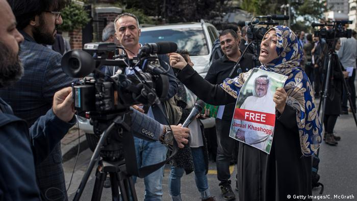 Türkei Protestkundgebung in Istanbul für vermissten Journalisten Khashoggi (Getty Images/C. McGrath)