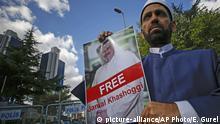 Türkei Protestkundgebung in Istanbul für vermissten Journalisten Khashoggi