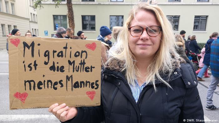 Simone Wiedemann Protest München