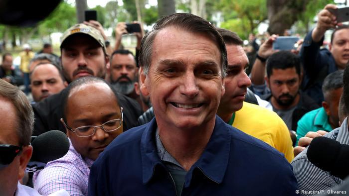 Brasilien Präsidentenwahl in Rio de Janeiro Jair Bolsonaro (Reuters/P. Olivares)