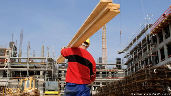 Polish building worker in Eschborn, Germany