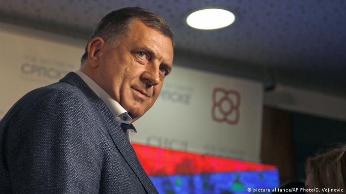 Bosnien Herzegowina Milorad Dodik Präsident der Republika Srpska (picture alliance/AP Photo/D. Vojinovic)