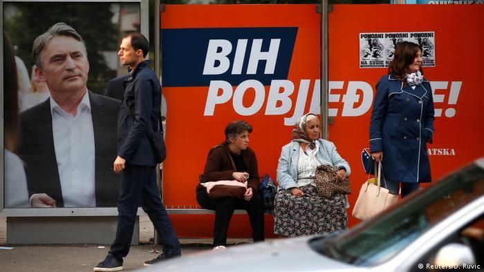 Bosnien Herzegowina | Wahl 2018 | Symbolbild | Wahlplakat Zeljko Komsic (Reuters/D. Ruvic)