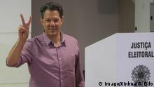 Brasilien Wahl 2018 | Stimmabgabe Fernando Haddad