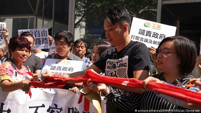 Hongkong verweigert Journalist Victor Mallet Visum nach Gesprächsrunde über Unabhängigkeit | Kritik (picture-alliance/ZUMAPRESS/Liau Chung-ren)