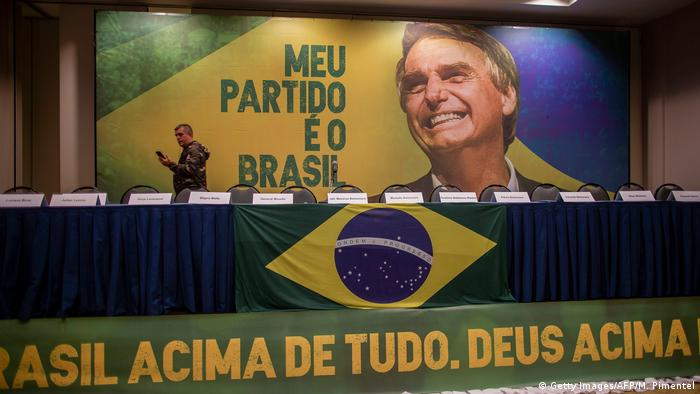 Campaign poster for the Social Liberal Party of Jair Bolsonaro