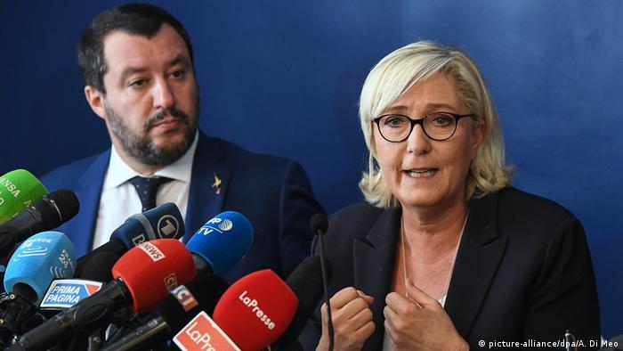 Italien Besuch Marine Le Pen bei Matteo Salvini