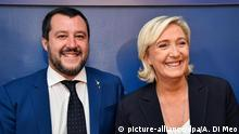 Marine Le Pen with Matteo Salvini in Rome, October 2018
