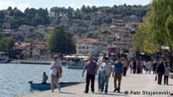 Panoramabild von Ohrid