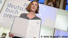 Inger-Maria Mahlke receives the German Book Prize (Deutscher Buchpreis) at the city hall Roemer on October 8, 2018 in Frankfurt am Main.
