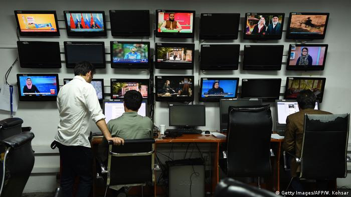 Afghanistan Tolo TV-Sender in Kabul (Getty Images/AFP/W. Kohsar)