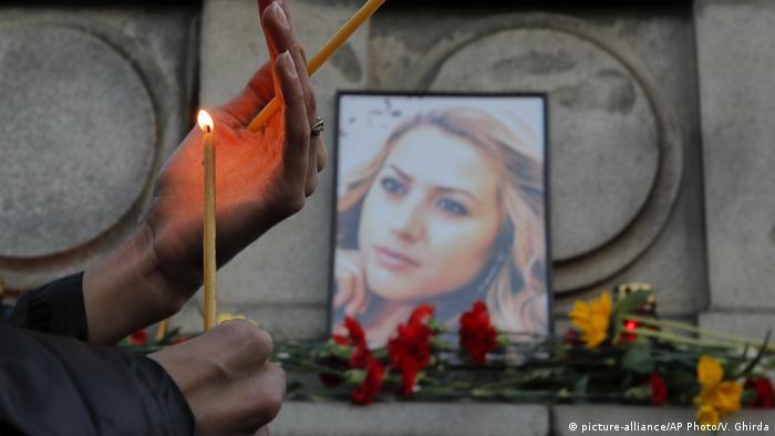 Bulgarien Gedenken Viktoria Marinowa in Ruse (picture-alliance/AP Photo/V. Ghirda)
