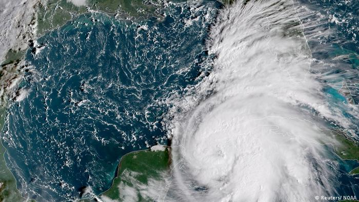 Satellite images of Hurricane Michael over the Caribbean
