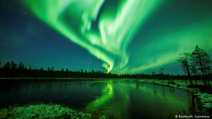 The Aurora Borealis seen in Finland