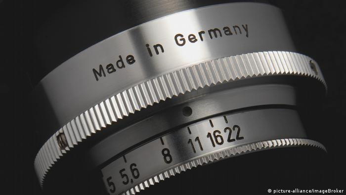Camera objective saying 'Made in Germany'