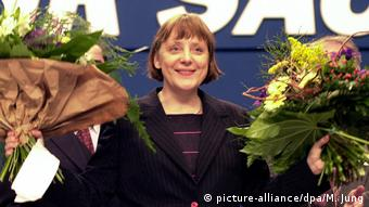 Angela Merkel, aleasă preşedinte al Uniunii Creştin-Democrate în 2000