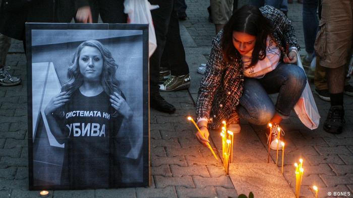 Sofia, Bulgarien, Mahnwachen nach dem Mord an der 30-jährigen Journalistin aus Russe Viktoria Marinova (BGNES)