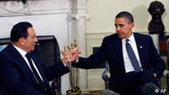 US-Präsident Barack Obama und der ägyptische Präsident Hosni Mubarak