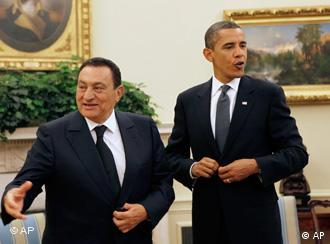 US President Obama, Egyptian President Mubarak
