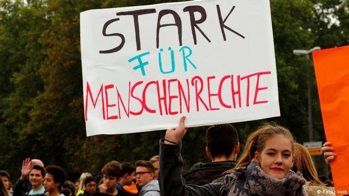 Deutschland Sternmarsch in Neuwied für Toleranz